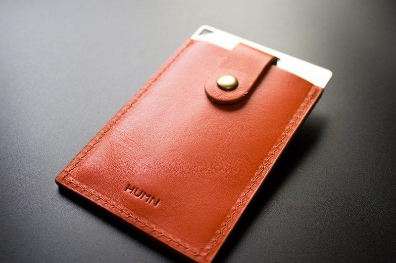 「HUMN暮樂生活什物」- ARMOUR Cardholder 多功能卡套 橘色 (耶誕週年送拍立得動物相框任一種)