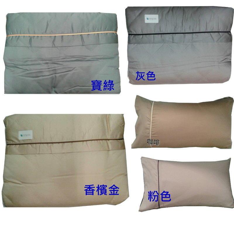華德寢具* 典雅素色天絲.雙人床包薄被套4件式【床包+枕套*2+雙人薄被套】5*6.2 台灣印染精製