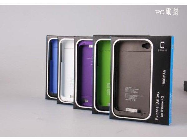 **小紀的店** Apple  iPhone 4 4S 背夾電池 1900mAh 移動電源/外掛電池/充電寶