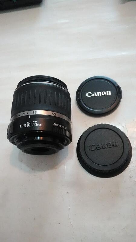 CANON ZOOM LENS EF-S 18-55mm鏡頭,功能正常
