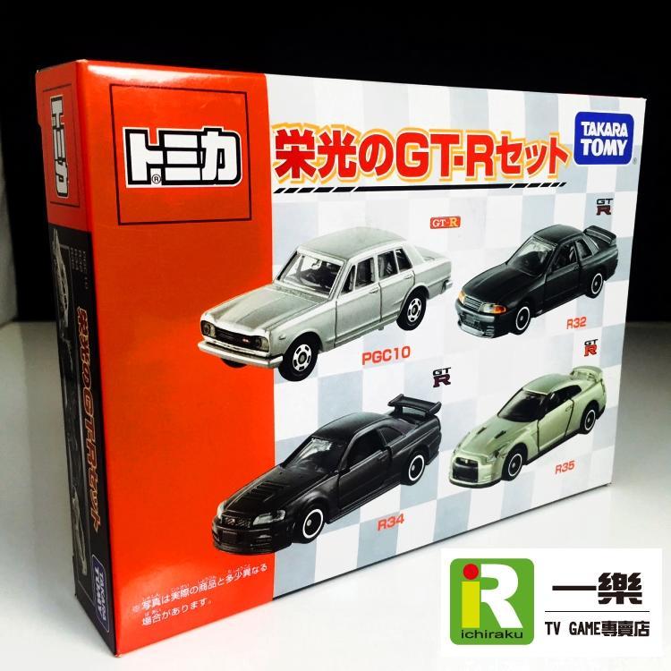 售出【TOMICA】多美小汽車 日產 NISSAN 榮光的GT-R GTR 4台一組【台中一樂】