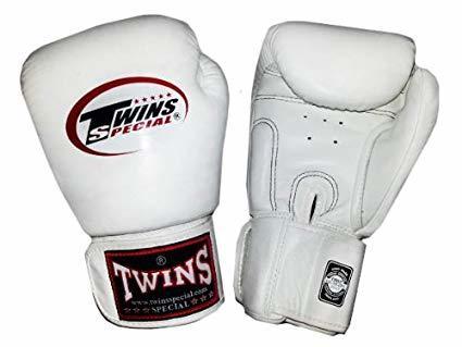 【大帥格鬥】TWINS 拳擊手套 泰拳真皮 白色10oz