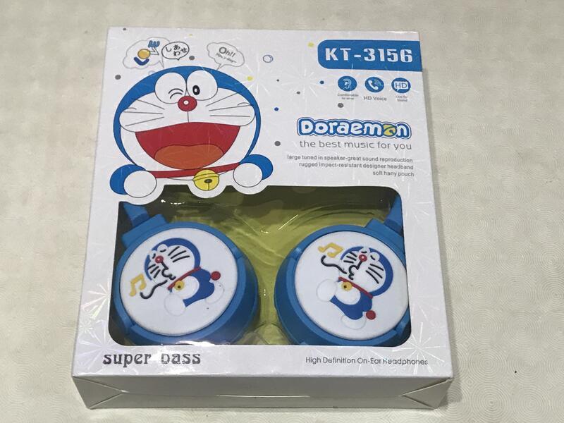 [九尾妖狐] Music PURE BASS 哆啦A夢 叮噹貓 雙色 大耳機 B款 頭戴式 耳罩式 手機 平板電腦 禮物