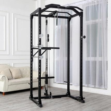 經典power rack 深蹲架 含高低拉 帶雙桿