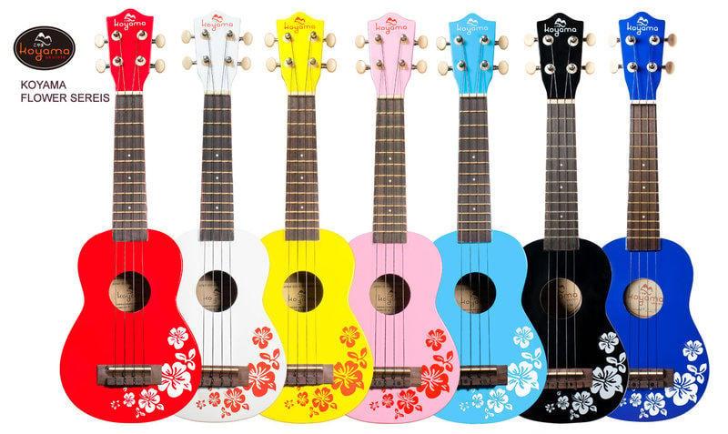 《小山烏克麗麗》 KOYAMA原廠 正宗 扶桑花烏克麗麗 升級義大利琴弦 琴&袋七色自由搭配