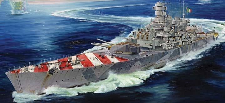"""1/700 小號手 """"羅馬""""號戰列艦 義大利海軍 roma battleship (二戰義大利海軍)"""