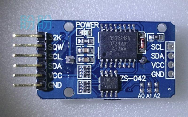 【盼盼18】DS3231 RTC I2C 時鐘 模組 高精度 即時時鐘 晶片自帶 溫度傳感器 附電池 【現貨】