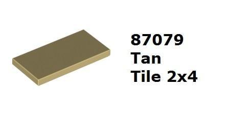 【磚樂】LEGO 樂高 87079 6122047 Tan Tile 2x4 米色 沙色 平滑板