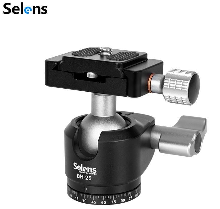 呈現攝影-selens BH-25 球型阻尼雲台 三腳架相機雲台 全景 低角度架/水平電動雲台 通用夾式