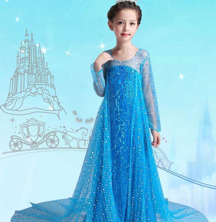 冰雪奇緣公主裙艾莎夏季女童洋裝愛沙洋氣愛莎生日錶演禮服