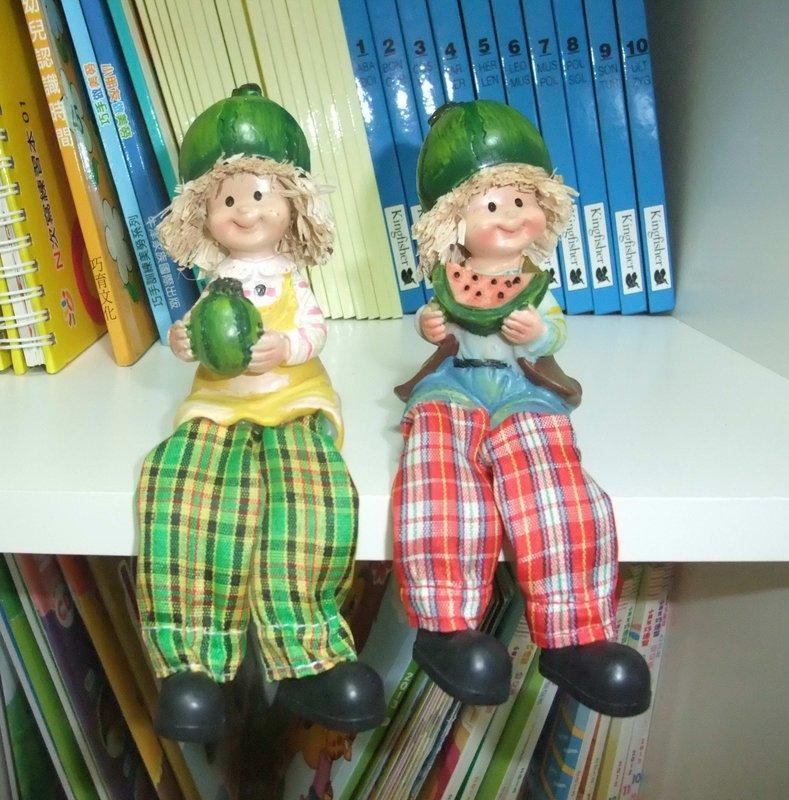 超可愛蔬果娃娃  書櫃 台面 玄關 層板裝飾品  3對