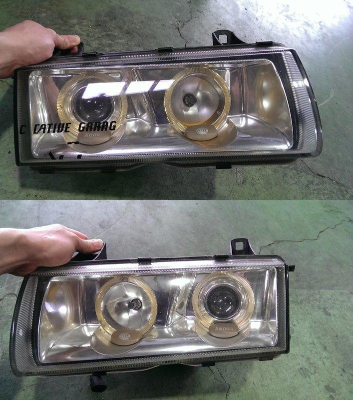 日本外匯 BMW 寶馬 E36 M3 318 320 323 325 328 HELLA Xenon  魚眼 光圈 鷹眼 大燈 頭燈 非DEPO 副廠 台製