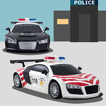 【傳說企業社】1:18 四通遙控警車 高速公路警車 斑馬 M9070
