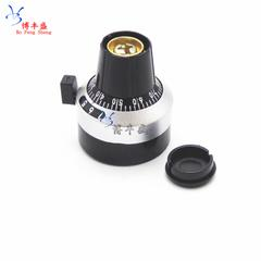[含稅]頂調旋鈕 6.35MM孔徑 3590S電位器配套旋鈕帽子 刻度旋鈕帶緊鎖