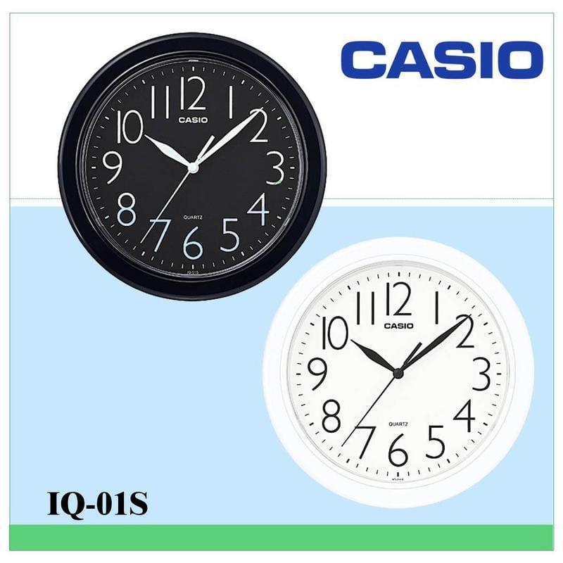 CASIO掛鐘 居家必備 經典大數字 大方流線圓形時鐘25*25公分(10吋) 保證公司貨附保固卡全省保固IQ-01S