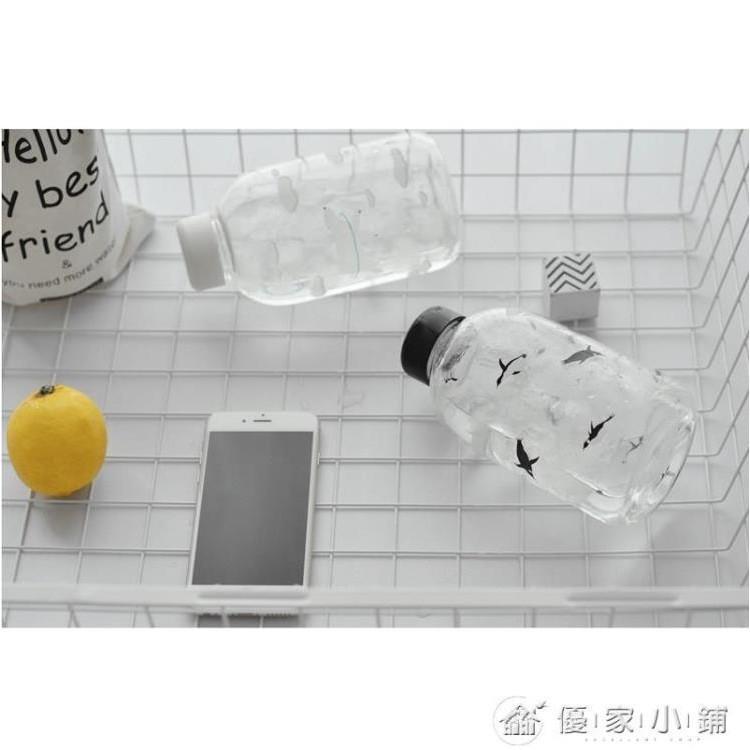 北極熊杯子韓國創意可愛小清新玻璃杯女學生韓版便攜隨手水瓶水杯~小紅家居館