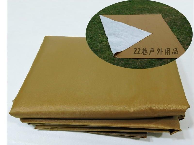 [ 22巷 ] 多用背塗銀膠地墊布300cm x 300cm / 可搭天幕帳、炊事帳。