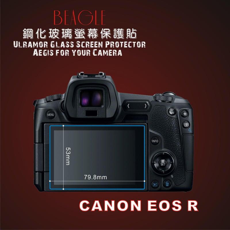 (BEAGLE)鋼化玻璃螢幕保護貼 CANON EOS R 專用-可觸控-抗指紋油汙-硬度9H-台灣製-2片式