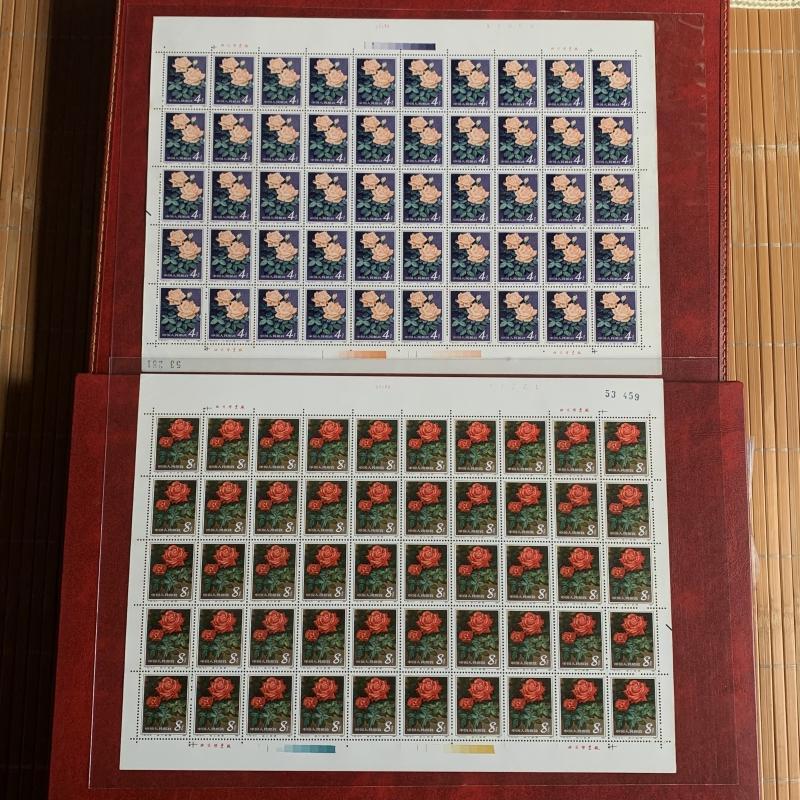 ㊣中國大陸T93 月季花郵票6全大版張㊣