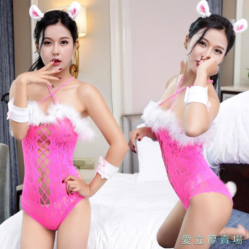 愛立厚賣場-透視性感內衣褲情趣內衣性感制服誘惑可愛兔子裝夜店演出表演服娃娃6027