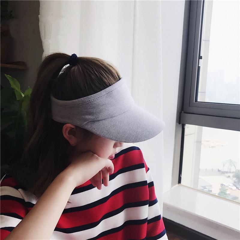 【運動】夏季遮陽帽百搭休閑空頂帽男女戶外跑步純色鴨舌帽棒球帽1入