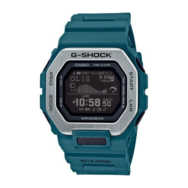 全新 CASIO卡西歐 G-SHOCK 藍牙 雙重材質錶圈 衝浪運動 GBX-100-2 藍  歡迎詢問
