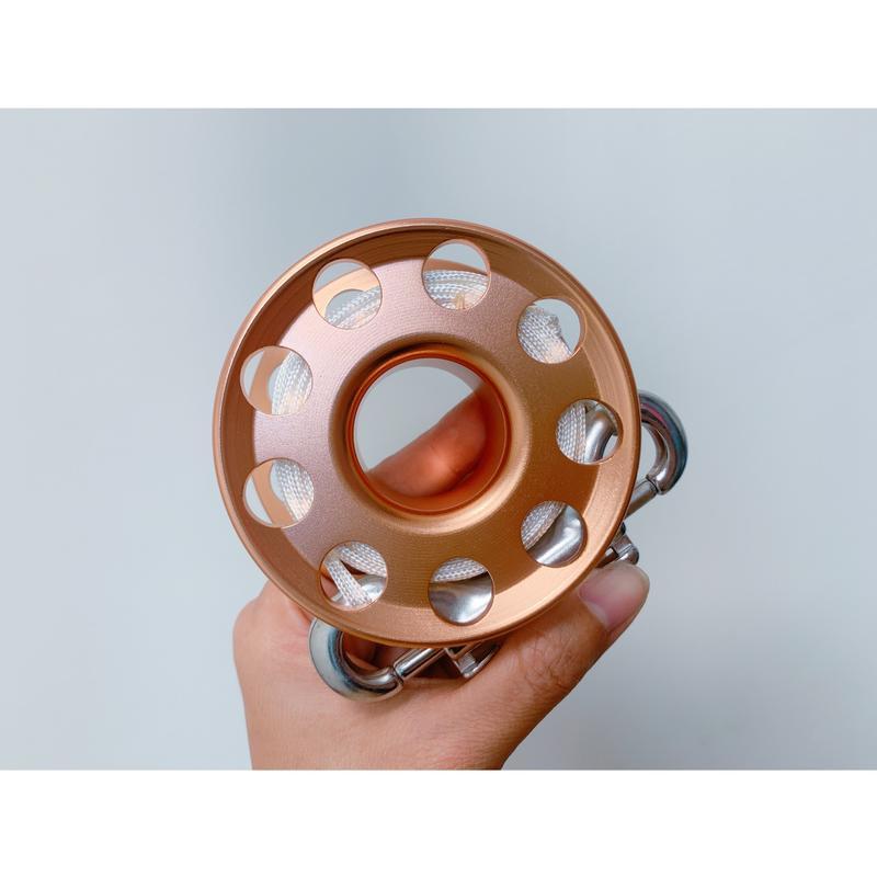 ☆° 亞潮潛水 °☆ 20M 薄型 簡易手輪 捲線器 鋁合金 打浮力袋好用 獨特