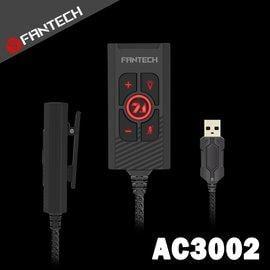 【風雅小舖】【FANTECH AC3002 虛擬7.1遊戲級USB音效卡】遊戲級音效卡/7.1環繞聲/音量控制/燈光控制