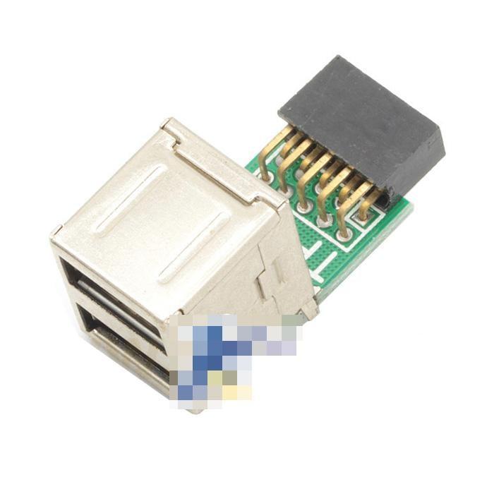 主板9針USB介面轉USB母頭 杜邦9p 內置 藍牙 遙控接收器 加密狗 w56 056[9000155]