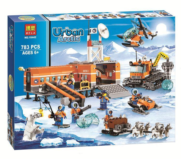 極地探險北極大本營基地 博樂10442/直升機 雪橇 北極熊 鑽地機 城市city 非樂高60035