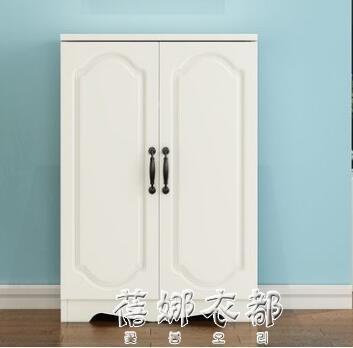 門口鞋柜簡約現代門廳柜鞋架仿實木鞋柜簡易經濟型省空間家用組裝YYP