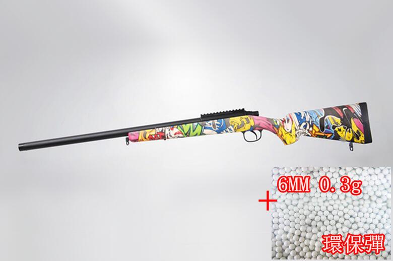 2館 BELL VSR 10 狙擊槍 手拉 空氣槍 彩色 + 0.3g 環保彈 (MARUI規格BB槍BB彈玩具槍長槍
