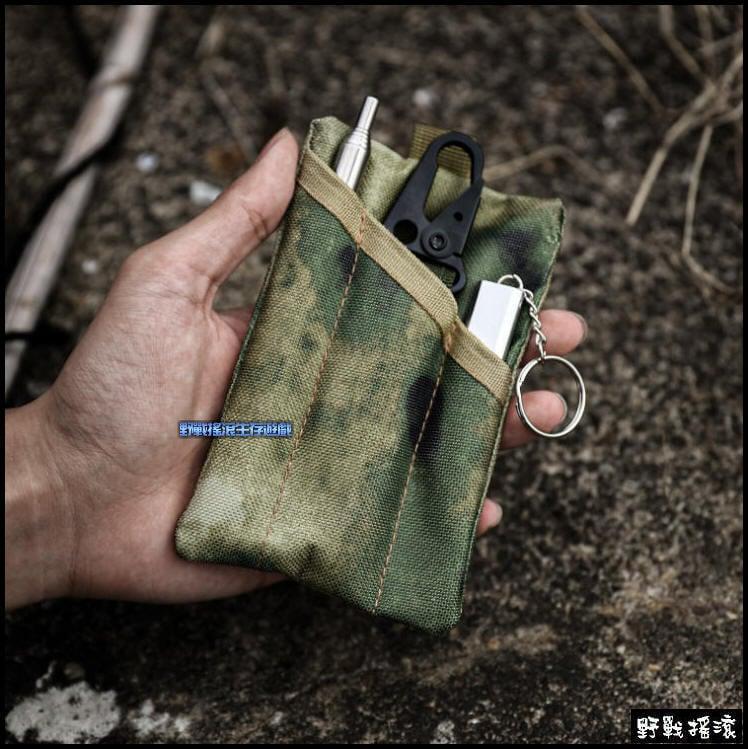 【野戰搖滾-生存遊戲】多功能工具小包、收納袋【黑色蛇紋迷彩、CP迷彩、A-Tacs FG】工具包零錢包雜物包腰掛工具袋