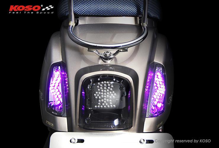 晶站 KOSO 高亮度箭頭造型 LED 後方向燈 MANY/魅力100/MANY110/MANY100 箭頭方向燈