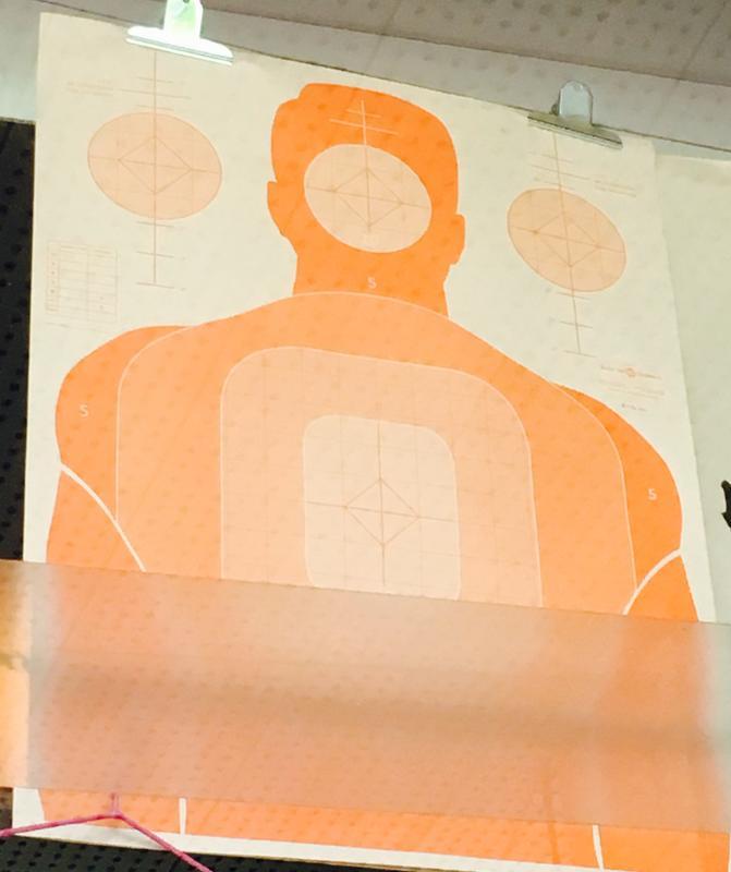 美國特殊圖案射擊靶紙(橘色標準人形)