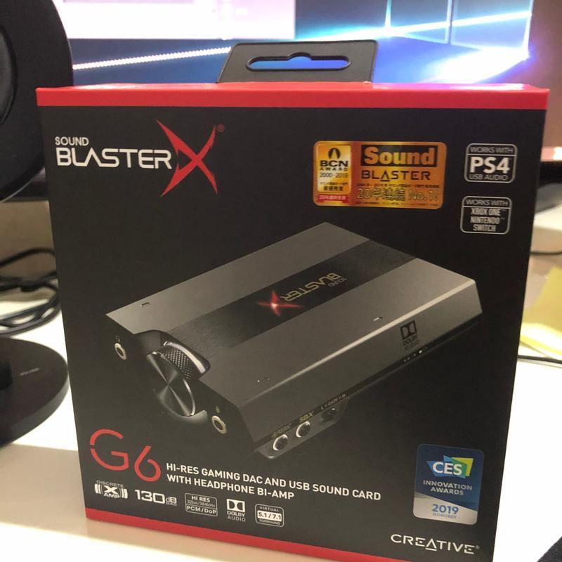 🔥免運🔥【CORMAC生活館 ]創新Creative Sound BlasterX G6 外接式 音效卡 電競音樂