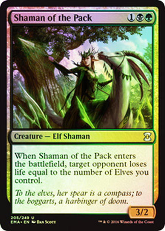[ALG卡牌專門] EMA 經典大師 Foil Shaman of the Pack 閃 獵群祭師 英文