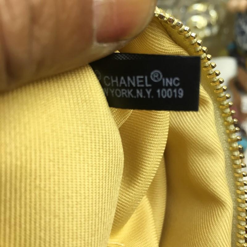 香 櫃檯會員禮品 鐵牌LOOGL 黑色/金色菱格漆皮 筆刷包/收納包/化妝包/手拿包/零錢包_代購