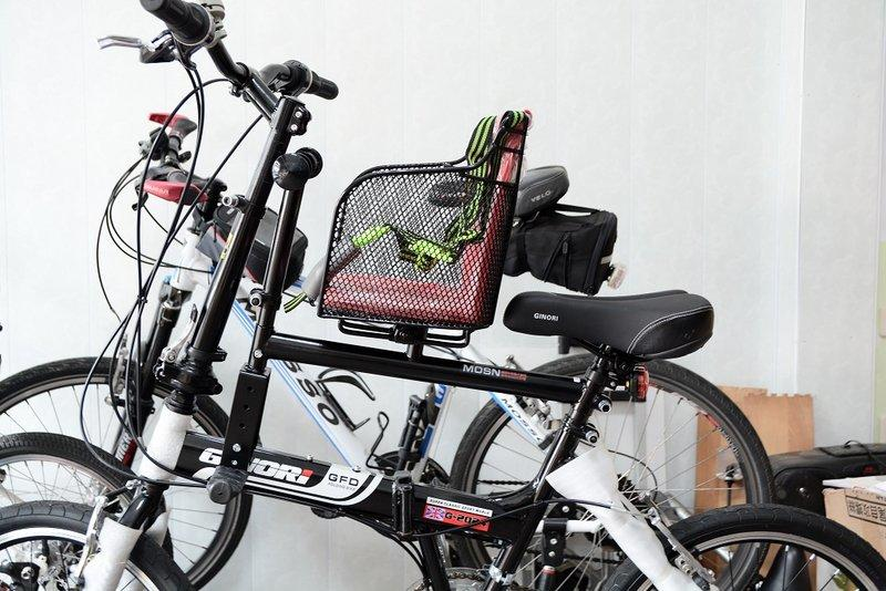 瑞峰親子座 裝好 GINORI摺疊車 變親子腳踏車