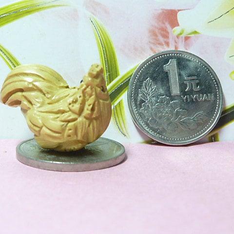 【木雕】1寸原色黃楊木雕可作手機鏈/掛墜/包飾:生肖雞【fuxi_161229_0003】【linyahuy】