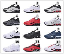 42個配色NIKE SHOX R4 耐吉 氣柱 彈簧鞋 慢跑鞋 運動鞋 休閑鞋 透氣 復古老爹鞋 男鞋 女鞋 休閒鞋