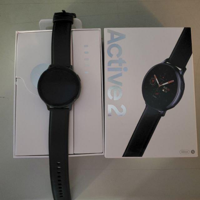 不鏽鋼Samsung Galaxy watch active2午夜黑智慧手錶galaxy watch active 2