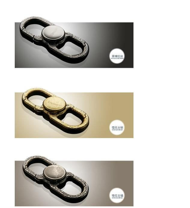 BCK2-543百誠新款旋轉指尖陀螺 百誠指尖陀螺手指隨從螺旋fidget spinner 多功能鑰匙扣陀螺新款