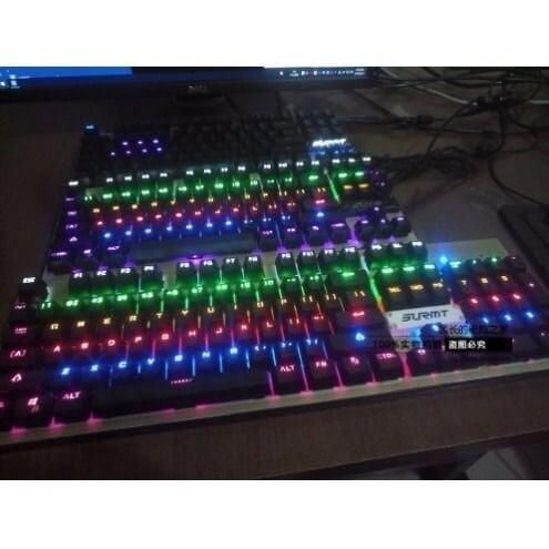 全館免運 盛美瑞 真機械鍵盤 光軸機械鍵盤 青軸 黑軸 87鍵 104鍵  凱華