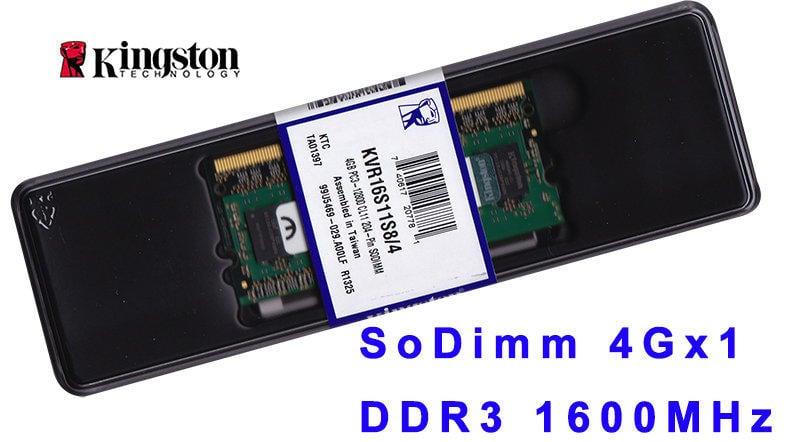 {買到賺到}金士頓筆電用記憶體 DDR3 4G 4GB 1600 KVR16S11S8/4 另 8G 1333
