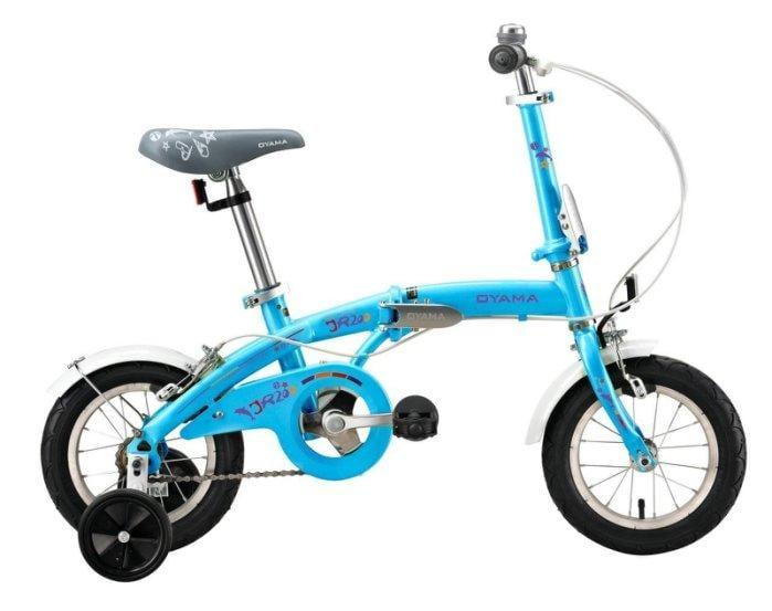 (免運+4大贈品)OYAMA 歐亞馬JR200 兒童折疊車(藍色)-【台中-大明自行車】