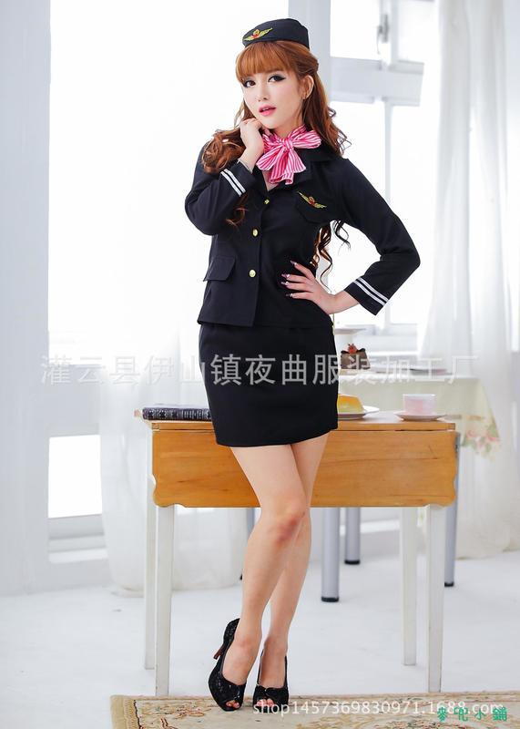 麥兜小鋪-免脫性感情趣內衣 性感女警制服誘惑舞臺裝酒吧扮演空姐裝制服廠