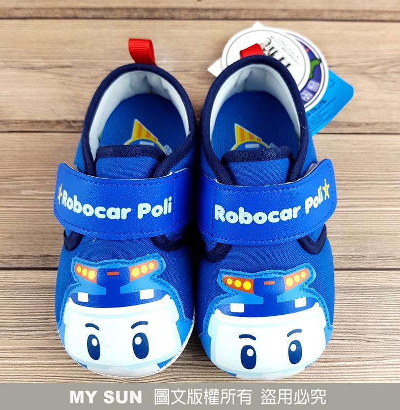 【MYSUN】童鞋 波力救援小英雄 ROBOCAR POL 波力 警車 兒童休閒鞋 學布鞋 藍 POKK71706