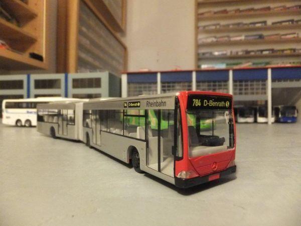 HO 1/87 Rietze 62807 H0 Rheinbahn Düsseldorf MB Citar 雙節公車模型
