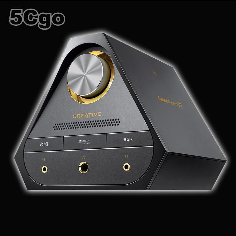 5Cgo【發燒友】Sound Blaster X7 HI-FI 筆記本外置聲卡 USB 耳放 DAC 解碼器黑/白含稅